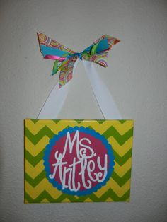 Chevron Classroom Sign by bethanygetz on Etsy