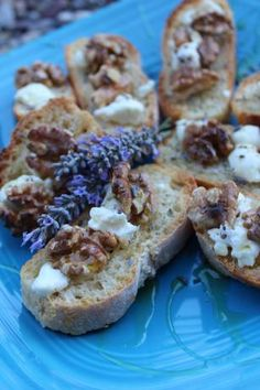Goat Cheese and Walnut Nibblers