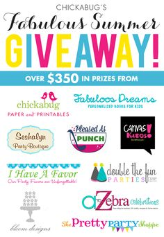 Fabulous Summer Giveaway: Win over $350 in prizes!