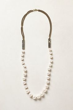 verity pearled necklace / anthropologie pearl necklac, necklac anthropologi