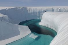 Ice Canyon, Greenland: | 28 Incredibly Beautiful Places You Won't Believe Actually Exist