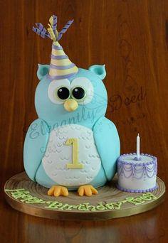 adorable owl cake