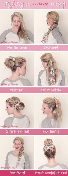 Styling a Wrap.  Hairstyles | Twist Me Pretty