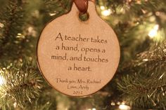 christma 2013, teacher gift, quot, teacher ornament