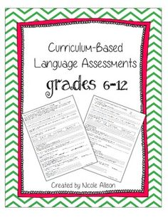 Obtain language baseline data easily for your upper level students. Questions aligned with Common Core Standards! Quick and easy to administer-simply read questions and record student answers.