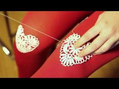 DIY heart crochet knee tights