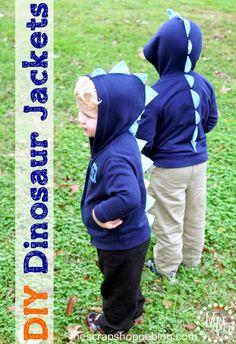 The Scrap Shoppe: DIY Dinosaur Jackets dinosaur jacket, diy dinosaur