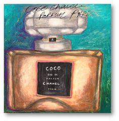 Coco Chanel Perfume Bottle ✭Teresa Restegui http://www.pinterest.com/teretegui/ ✭