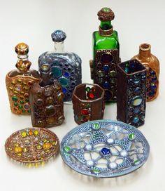 Bottle polymer clay art