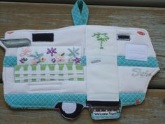 Custom Camper potholder made to match your camper, featured in Mary Jane Butters' newely released book Glamping with Mary Jane