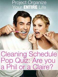 PROJECT 1: CREATE A WEEKLY SCHEDULE - Weekly Cleaning schedule pop quiz