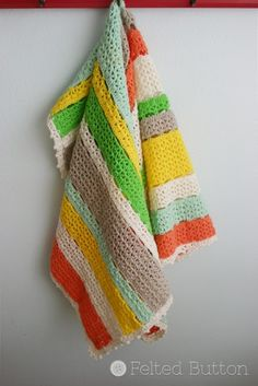Citrus Stripe Blanket #crochet