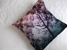 Reflections of Nature, digitally printed, square cotton cushion.