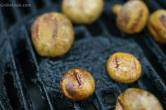 Garlic Grilled Mushrooms - So simple and so amazing. Add these to the menu for your next BBQ
