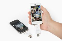 The iFlash Drive - A USB drive to store and transfer files to and from your iPhone or iPad ($100.00, http://photojojo.com/store)