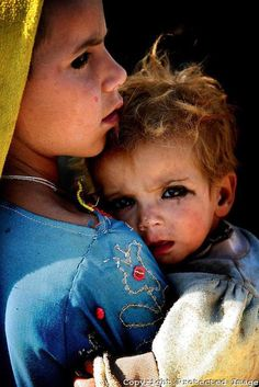 Kuchi (Pashtun nomad) children, Afghanistan