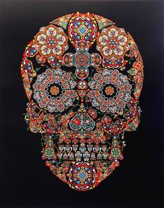 Jacky Tsai Stained Glass Skull