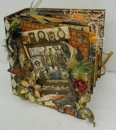 Beautiful Olde Curiosity Shoppe chunky mini album by Donna Kauffman! Absolutely wonderful! #graphic45 #mini