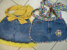 Aprons from old jeans