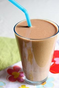 8oz skim milk  1 scoop SlimFast High Protein Shake Mix  1 banana, broken into 3 or 4 pieces  1/4 cup peanut butter  1/2 cup crushed ice  Combine all ingredients in a blender (or in a large cup to use with an immersion blender) and blend until desired consistency.