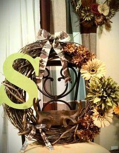 "18"" Camo/Deer hunting Wreath on Etsy, $60.00"