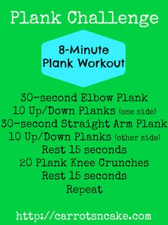 Plank Challenge 8-minute plank workout