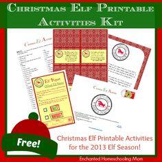 Christmas Elf Printable Activities Kit