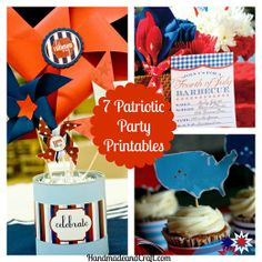 7 Patriotic Party Printables {DIY Party}...so cool! #4thofJuly