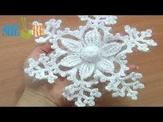 ▶ Snowflake Ornament Crochet Tutorial 8 Prat 1 of 2 6-Petal Flower Center - YouTube