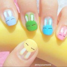 Bunny nails #nail #bunny