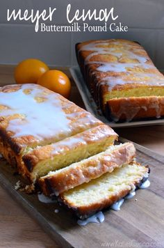 pound cakes, lemon buttermilk, meyer lemon cake