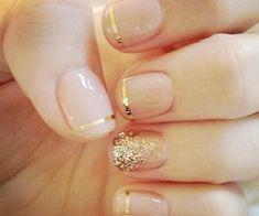 Pink and gold #nails #nail #art