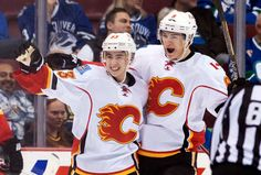 "#53 - ""johnny hockey"" John Gaudreau scores in his first NHL game - Canucks vs. Flames - 13/04/2014"
