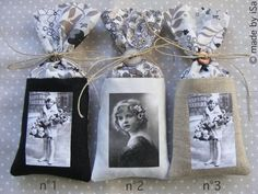 Button tied photo gift bags