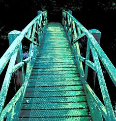 Over the marvelous *Teal & *Turquoise bridge