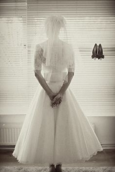 50's inspired wedding gown