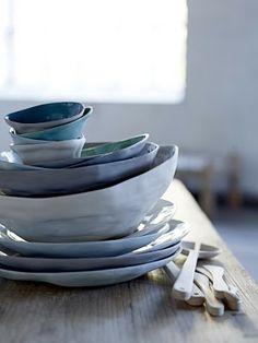 clay, ceramic pottery, light design, ceramics, hand made, something blue, shade, blues, bowls
