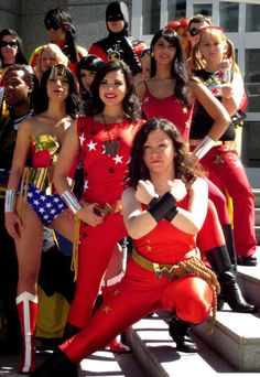Dragon*Con 2010 Wonder Woman & The Wonder Girls Cosplay 2 Photo:  This Photo was uploaded by nurgh. Find other Dragon*Con 2010 Wonder Woman & The...