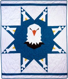 Dancing Eagles Star Quilt Pattern | North American Indian and Native Hawaiian Quilt Collection