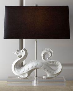 """White Dragon"" Lamp - Neiman Marcus"