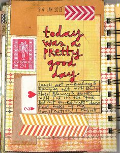 Daily Art Journal Pages by coreymarie♥com, via Flickr
