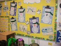 Winter Bulletin Board: Snowman Craft