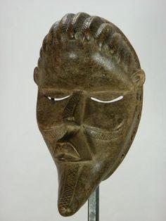 Superb African Tribal Mask DAN BASSA Face Mask Collectible