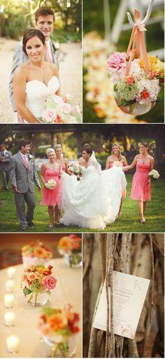 <3 coral wedding