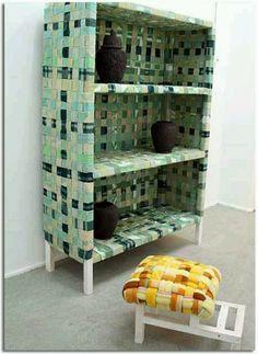 Muebles reciclados con tela