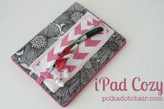 iPad Cozy... a tutorial - The Polkadot Chair