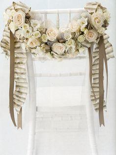 idea, window, weddings, ribbon, crafti side, wedding chairs, chair decor, floral, flower
