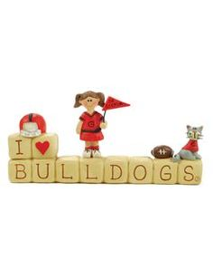 Cute!!!  Blossom Bucket:    I LOVE BULLDOGS®  Product Number: 114-84905