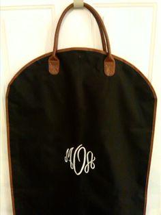 Monogrammed Garment Bag by HeyYallandCo on Etsy, $39.99