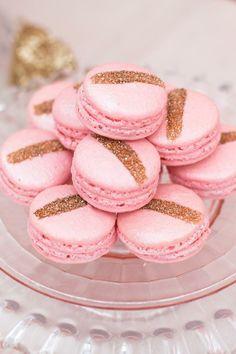 Pink Gold Macaroons